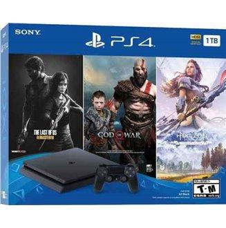 PS4 Slim 1 TB The Last of Us, Horizon, God of War