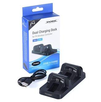 DUAL charging Cargador Doble Control Ps4 carga 2 Controles Al Tiempo