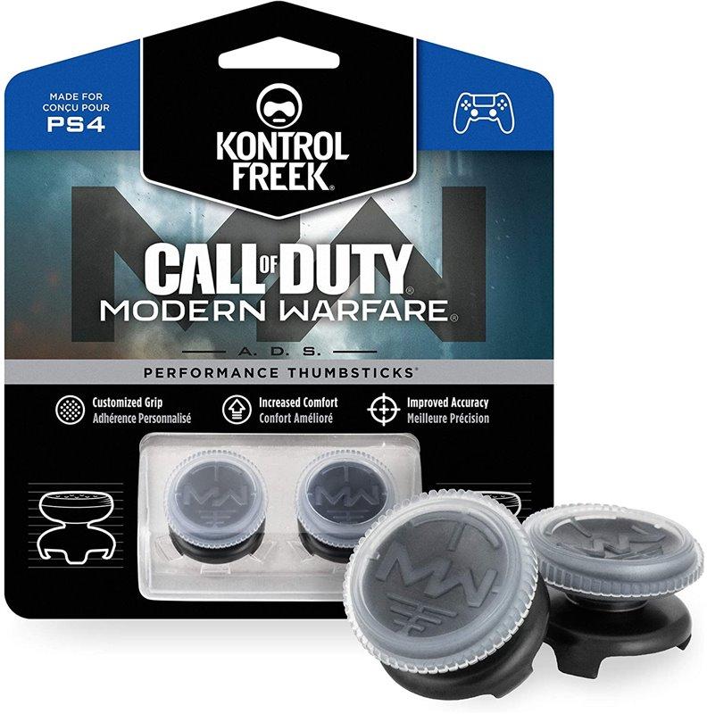 KontrolFreek Call of Duty: Modern Warfare - A.D.S. Performance Thumbsticks para PlayStation 4 (PS4) | 2 de gran altura, Cóncavo